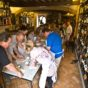 """""""Cook in Tuscany guests take part in a cooking lesson (making pici )  inside La Botte Piena restaurant, Montefollonico – Image credit Andrew  Marshall"""""""