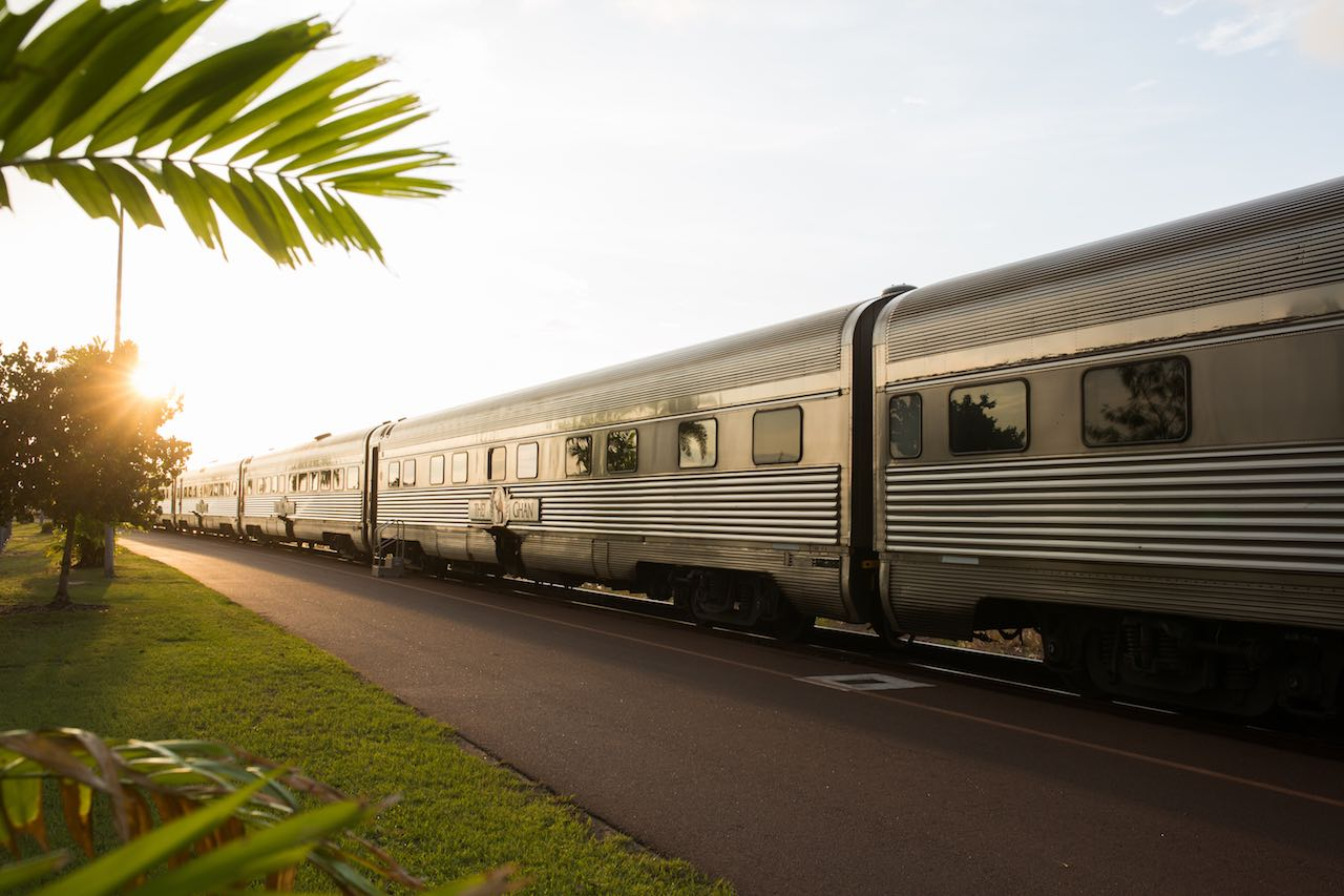 The Ghan in Darwin - Image credit Great Southern Rail