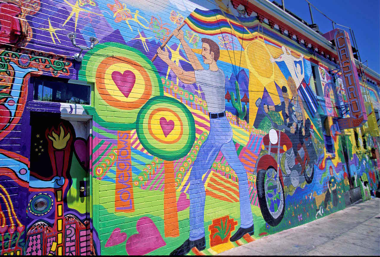 COLOURFUL STREET MURAL CASTRO DISTRICT – IMAGE CREDIT ANDREW MARSHALL