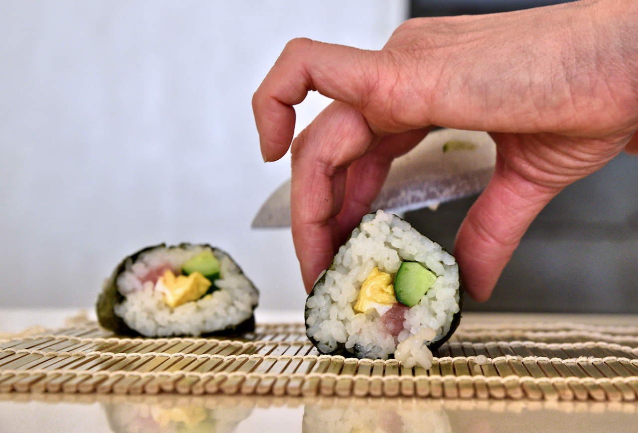 Making sushi on Kyoto, Japan - Image Ronan O'Connell
