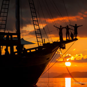 Sail Indonesian islands on a traditional phinisi