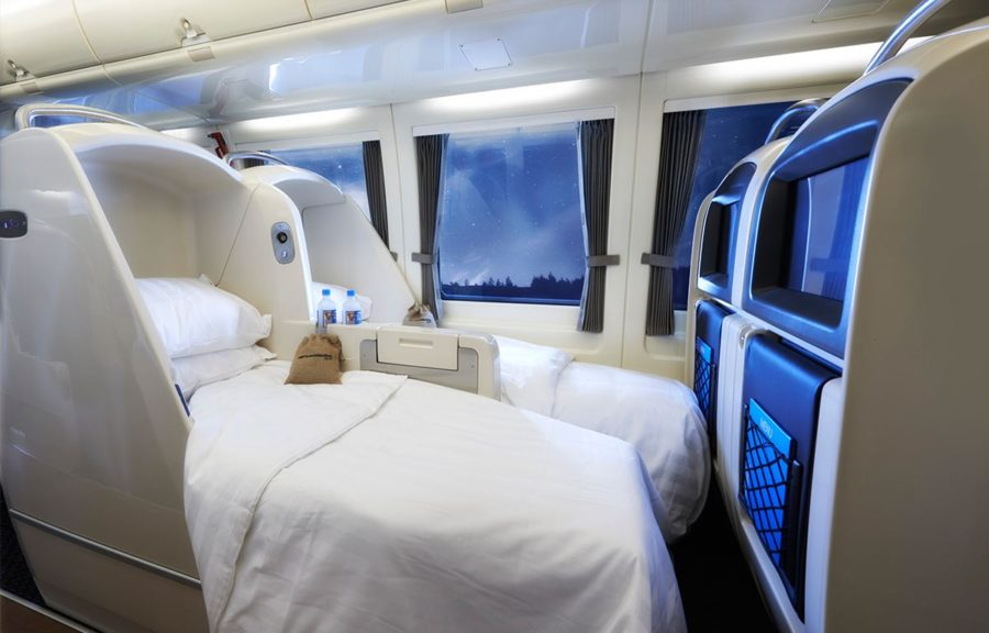 Business class beds on rails