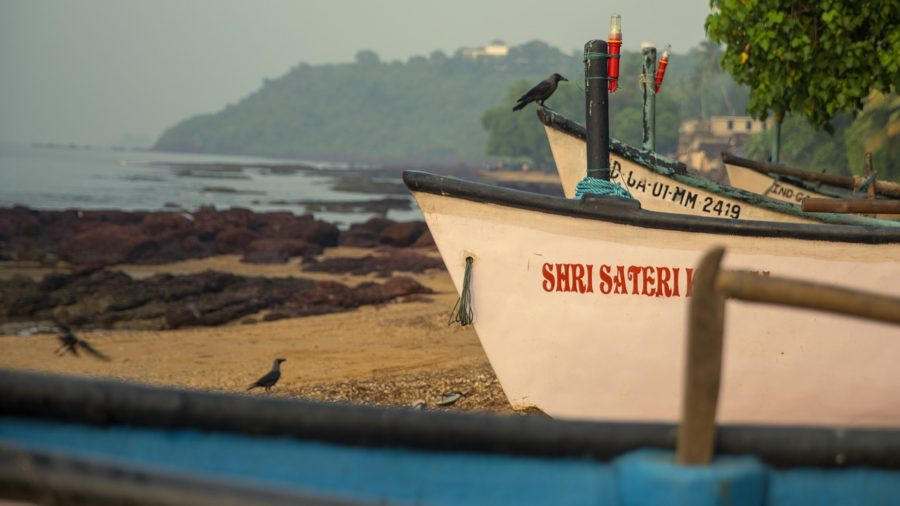 Goa, India fishing boat
